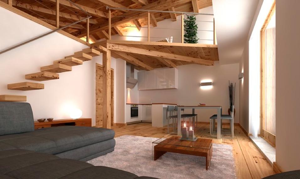 Vendita appartamenti bardonecchia melezet alloggio 3 - Cucina con soppalco ...