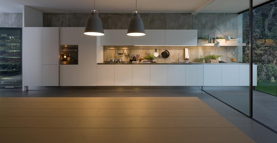 Cucina parete pensili acciaio Arclinea - Canuto Costruzioni