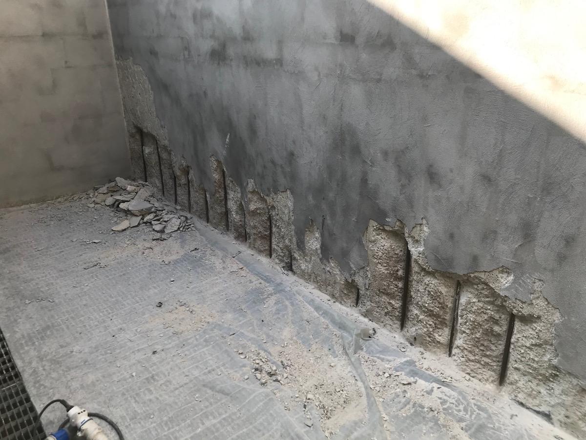 Recupero del cemento armato